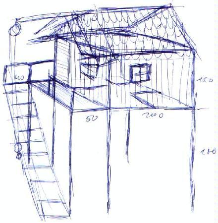 wie bekommt ein baumhaus stelzen grundidee. Black Bedroom Furniture Sets. Home Design Ideas
